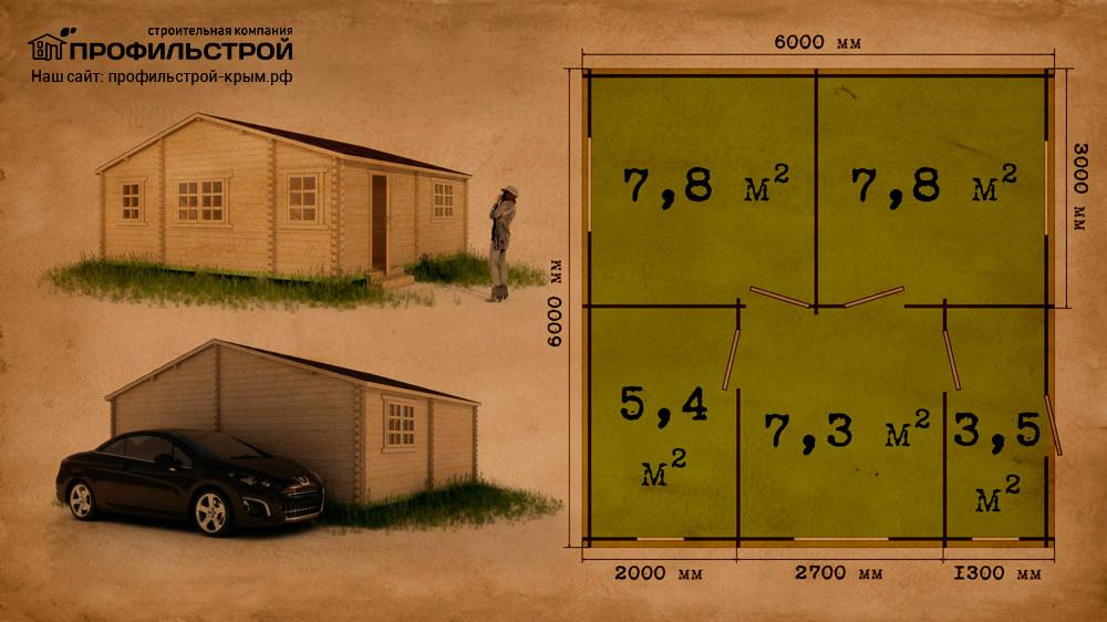 Дачный дом 6×6 м