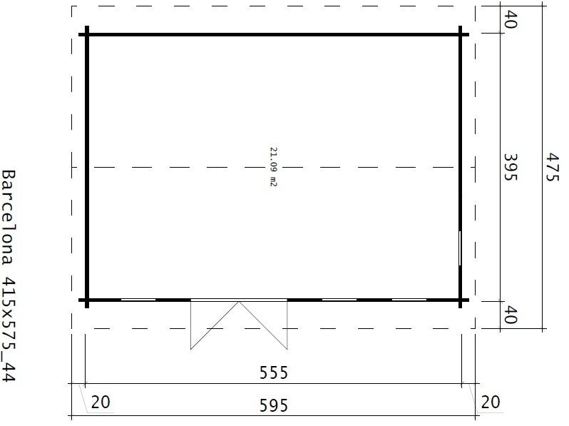 Классический домик BARCELONA 21