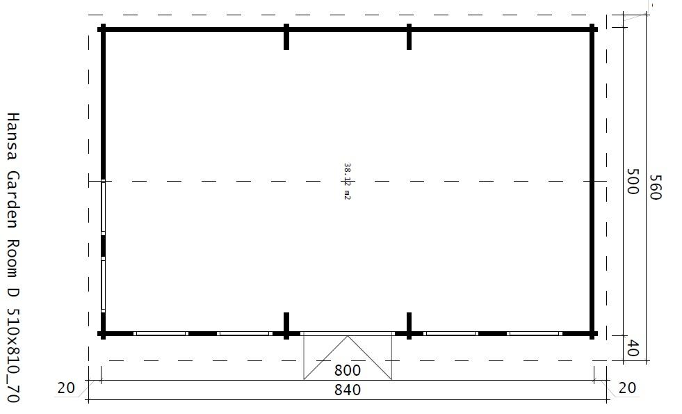 Классический домик BARCELONA 38