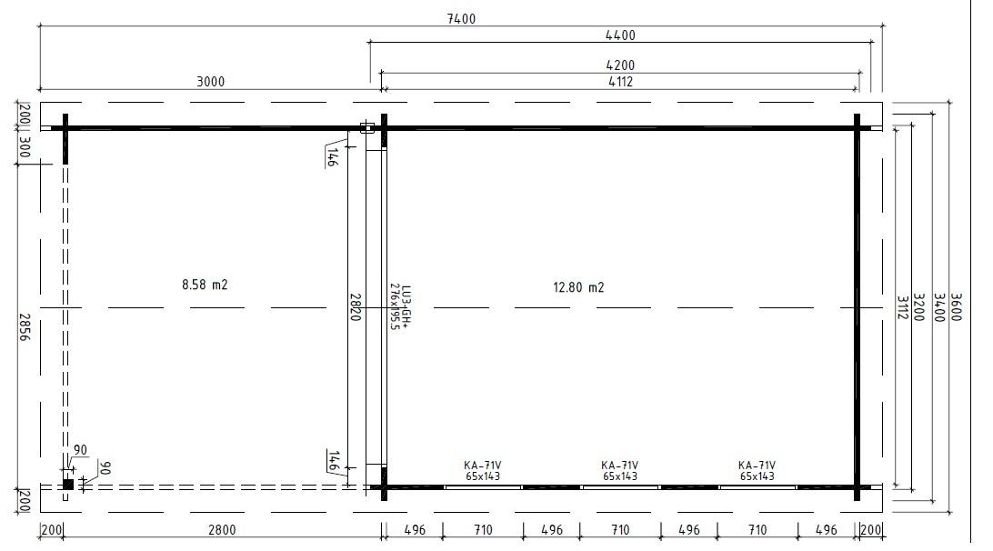 Классический домик с террасой EVA E