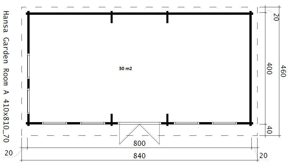 Современный домик SNOOKER 30