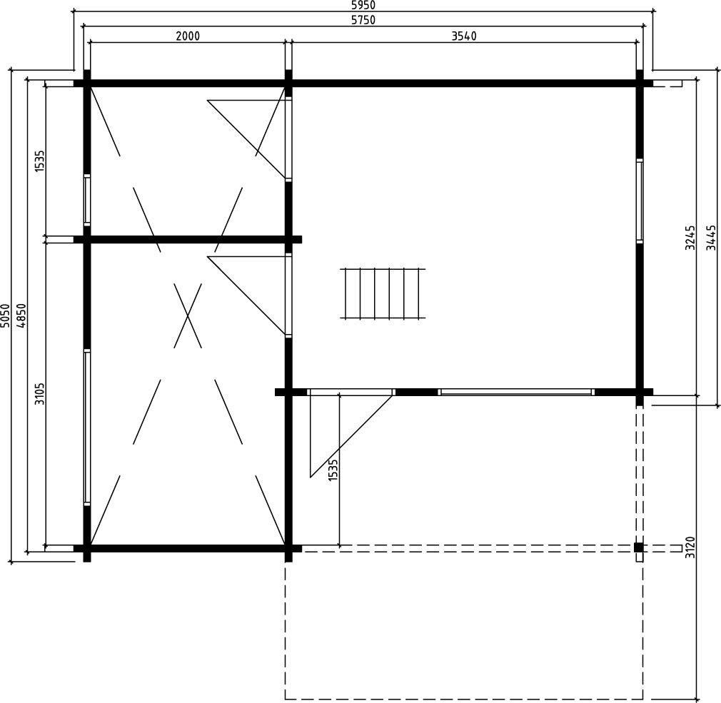 Дом со спальным лофтом OKLAHOMA