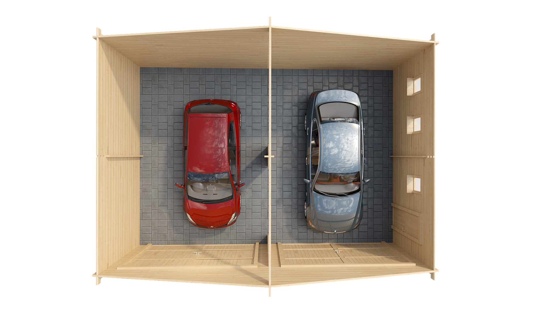 Гараж на два автомобиля