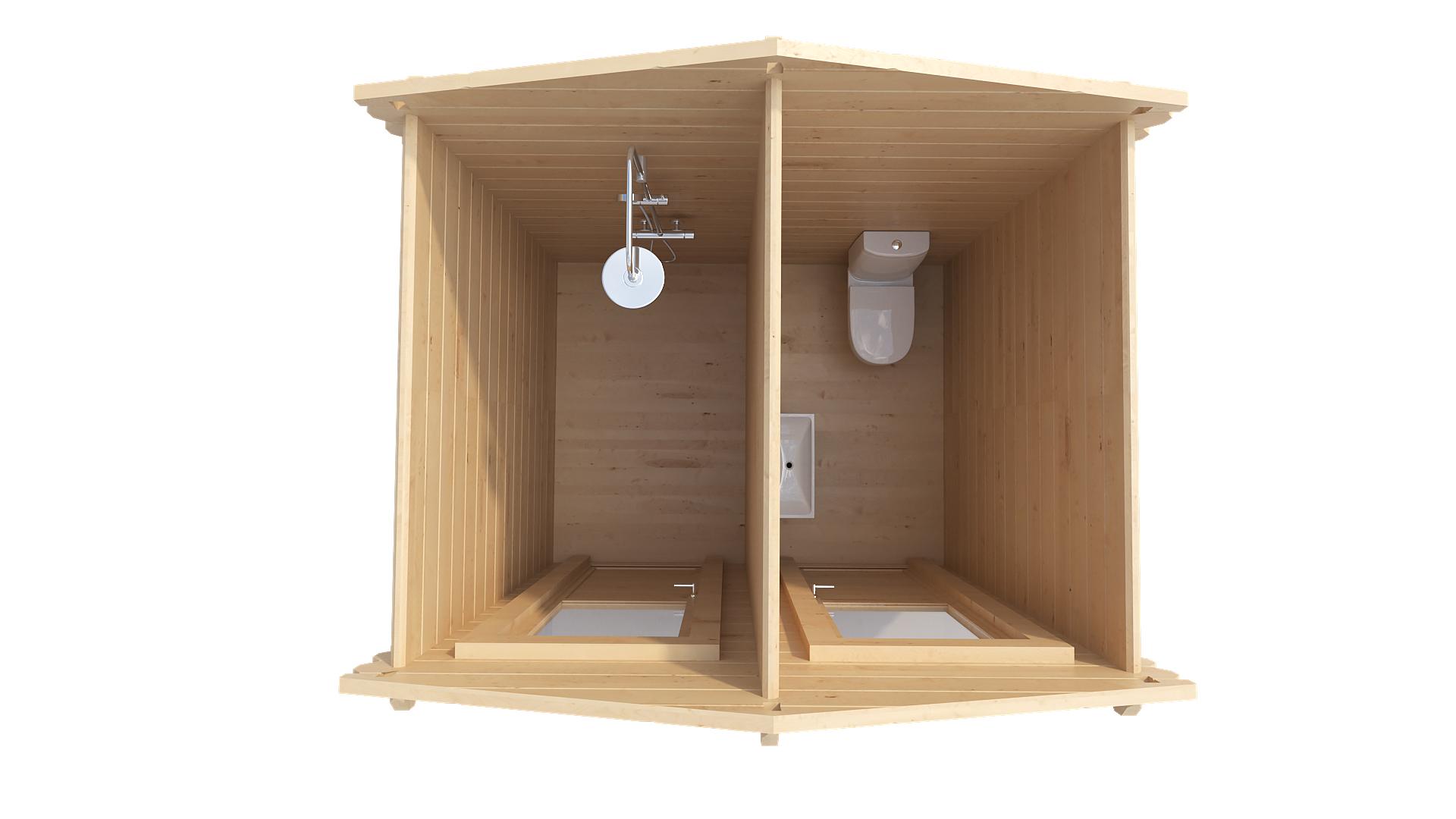 Садовая уборная (туалет/душ)